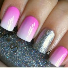 nails wear your heart on your nails Ombre Nails cute nails Get Nails, Fancy Nails, Love Nails, How To Do Nails, Hair And Nails, Perfect Nails, Gorgeous Nails, Pretty Nails, Pretty Nail Designs