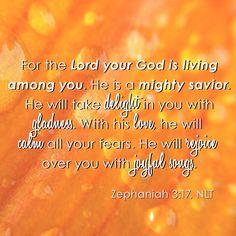 Zephaniah 3:17, NLT
