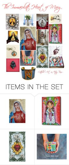 August is dedicated to the #Immaculate Heart of #Mary.  Great #religious #gift ideas from the best #Etsy Sellers.  #Catholic #Art on Etsy Team.  Visit the team page: https://www.etsy.com/teams/29607/catholic-art-on-etsy  And Terry's Etsy Store: https://www.etsy.com/shop/TerryTiles2014