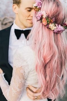 Pastel hair and lace <3