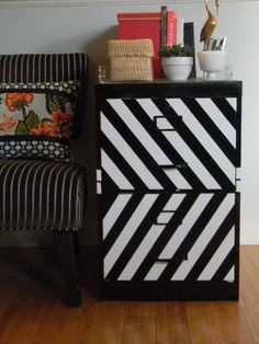 Chevron filing cabinet from The Design Pages