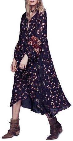 Free People 'Viceroy' Embroidered Maxi Dress