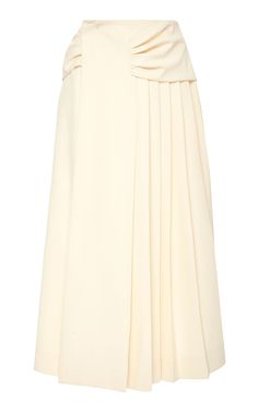 Pleated Cady Skirt by CARVEN Now Available on Moda Operandi