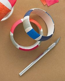 Striped Bangle Bracelets - Martha Stewart Crafts by Material