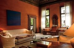 The salon in May and Axel Vervoordt's palazzo apartment in Venice. Architectural Digest; photo by Mario Ciampi.