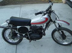 1974 Yamaha YZ80. The other hot ticket for a kid wanting to pretend he's Roger De Coster, Bob Hannah, or Heikki Mikkola.