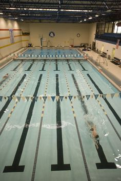Simon Rec Center has an indoor and an outdoor swimming pool