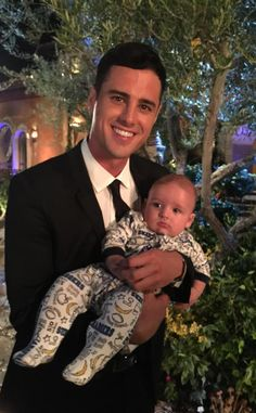 Get Your First Look at Ben Higgins on His First Night as the Bachelor—Why Is He Holding a Baby?! Ben Higgins, Bachelor