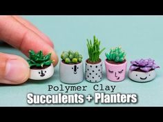 I'm showing you how to sculpt miniature succulents in smiling planters using polymer clay and acrylic paint. //FEED ME : ↠ Shop : http://www.petitplat.fr/sho...