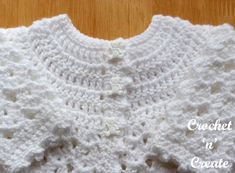 Free Baby Crochet Pattern-Picot Edge Cardigan UK - A pretty baby cardigan written in UK format, made in a shell design for a 14 inch . Crochet Baby Cardigan Free Pattern, Crochet Baby Blanket Beginner, Crochet Baby Sweaters, Baby Sweater Patterns, Crochet Baby Clothes, Newborn Crochet, Baby Patterns, Baby Knitting, Free Crochet