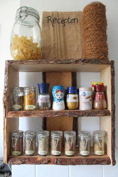 DIY - Kruidenrek gemaakt uit 1 plank