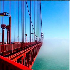 The 20 Most Popular Places On Earth, According To Instagram #refinery29  http://www.refinery29.com/popular-instagram-travel-destinations#slide-11  10. Golden Gate Bridge, San Francisco  Seeing snaps of the Golden Gate Bridge in San Francisco never gets old. We love the way this one juxtaposes the bright bridge and blue sky against the heavy fog....