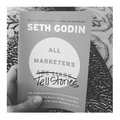 This Seth Godin book was reccomended to me by my storytelling social media guru friend @micahdhorner .... And it's soooo good! Plus it's the perfect sized book. Small. Floppy. And lightweight. I've got some good stories to tell that's for sure. And I ain't no liar. That's for sure too.