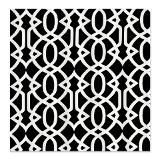 Black & White Trellis Shower Curtain for $54.50