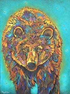 "Native American artist Micqaela Jones original artwork. ""Wuud-uht"" -- Is this beautiful or what??"
