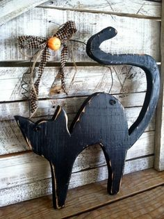 rustic halloween black boo cat spooky home by sopurdycreations - Halloween Cat Decorations