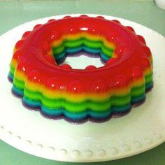 Giggleberry Creations!: Rainbow Jelly Cake! (gluten free)