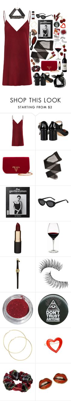 """""""cult leader"""" by pixiekeen ❤ liked on Polyvore featuring Rochas, Prada, Mason Pearson, Elizabeth and James, Mimco, Holmegaard, BOBBY, Trish McEvoy, France Luxe and River Island"""
