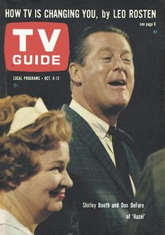"""TV Guide, October 6, 1962 - Shirley Booth and Don DeFore of """"Hazel"""""""