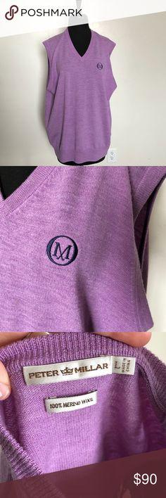 Peter Millar Men's Wool purple Vest size Large Brand new without Tags 100% wool Size Large Peter Millar Jackets & Coats Vests