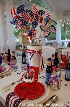 Between Naps on the Porch:  Easy Patriotic Table Setting