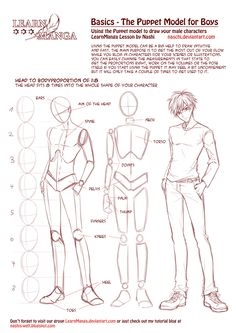 Learn Manga Basics: The Male Puppet by Naschi.deviantart.com on @deviantART