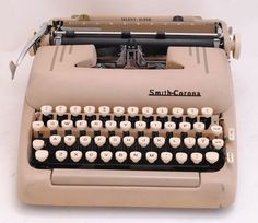 Typewriter Smith Corona Silent Super 1950s Tan by SarahAnntiques, $185.00