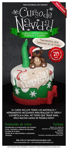 Cursos de navidad en Tenerife | Ilusiona Cakes. Decoración en Madrid de tartas, cupcakes y galletas con fondant para fiestas infantiles y eventos especiales