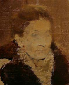 Adrian Ghenie - Elena, 2010, oil on canvas, 20 X 11 in
