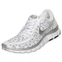 Femme Nike Free 5.0 V4 Léopard Formation Blanc/Argent/Gris Chaussures