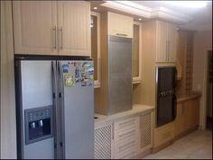 The De Bruyns Kitchen. Cool aluminium door hey?