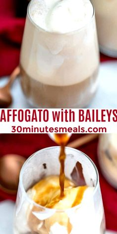 Baileys Drinks, Baileys Recipes, Alcoholic Drinks, Beverages, Cocktails, Easy Delicious Recipes, Vegan Recipes Easy, Delicious Desserts, Easy Smoothies