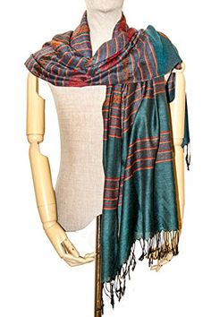 Dark Green Stripes Cotton & Silk Scarf Wrap Pashminas Sha... https://www.amazon.com/dp/B073Y9396V/ref=cm_sw_r_pi_dp_x_yaBFzbXSEW308