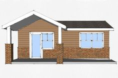 Cottage Style House Plan - 1 Beds 1 Baths 490 Sq/Ft Plan #507-2 Exterior - Other Elevation - Houseplans.com