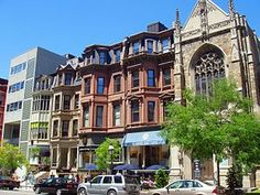 Newbury Street, Boston MA-- restaurants, shopping and people watching
