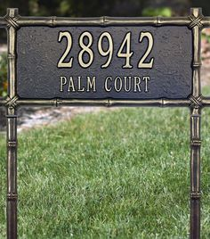Add an Asian touch to your outdoor decor with our Bamboo Framed Address Plaque.