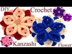 Como tejer una flor a Ganchillo Crochet tutorial paso a paso - YouTube