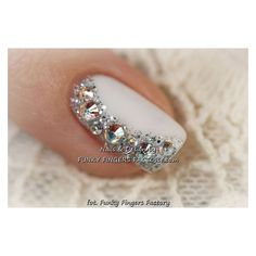 Beautiful Wedding Manicure Ideas ❤ liked on Polyvore featuring beauty products and jeweled