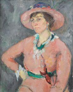 Henrik Lund (1879-1935): Portrett av Agnes Mowinckel, 1918 Lund, Johan Christian Dahl, Ludwig, Famous Artists, Painting, Image, Women, Impressionism, Norway