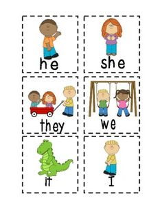 Personal Pronouns Worksheet for \'he\' and \'she\' | Classroom Projects ...