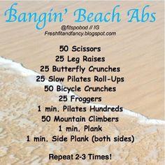 bangin' beach abs workout