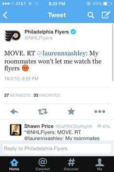 damn look at the flyers twitter go
