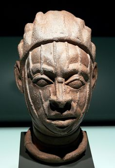 Human head, Ife people, South West Nigeria; terracotta, 12th–15th century AD; Africa department, Ethnological Museum, Berlin, Germany, Inv. No. III C 27527 (collection Leo Frobenius, acquired in 1913)  Kopf_Ife_EthnM_III_IIIC27527.jpg 1.516×2.217 pixels