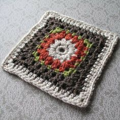 Found a cool granny square to do: Blushing Bride Granny Square, Designed by Heather Prusia