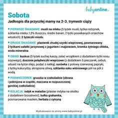 Jadłospis na 7 dni dla kobiet w ciąży 2-3 trymestr