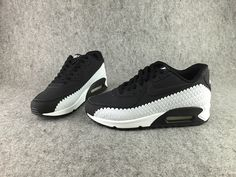 sports shoes 7287e c3bef Nike Air Max 90 Embossing Woven Men Black White Sports Mix, Nike Air Force  Ones