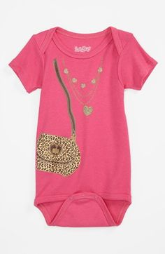 Too cute! Necklace and handbag print coveralls.