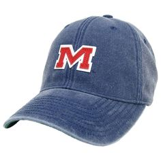 newest 1f010 fb5de Ole Miss Vintage M Hat in Navy by Hotty Toddy Outfitters. Great looking  navy blue
