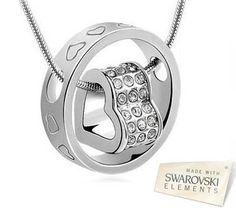 18K White Gold Swarovski Elements Eternal Love Necklace - Save 77% Just $19.95