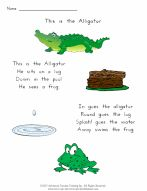This Is The Alligator - Free Songs and Chants for ESL